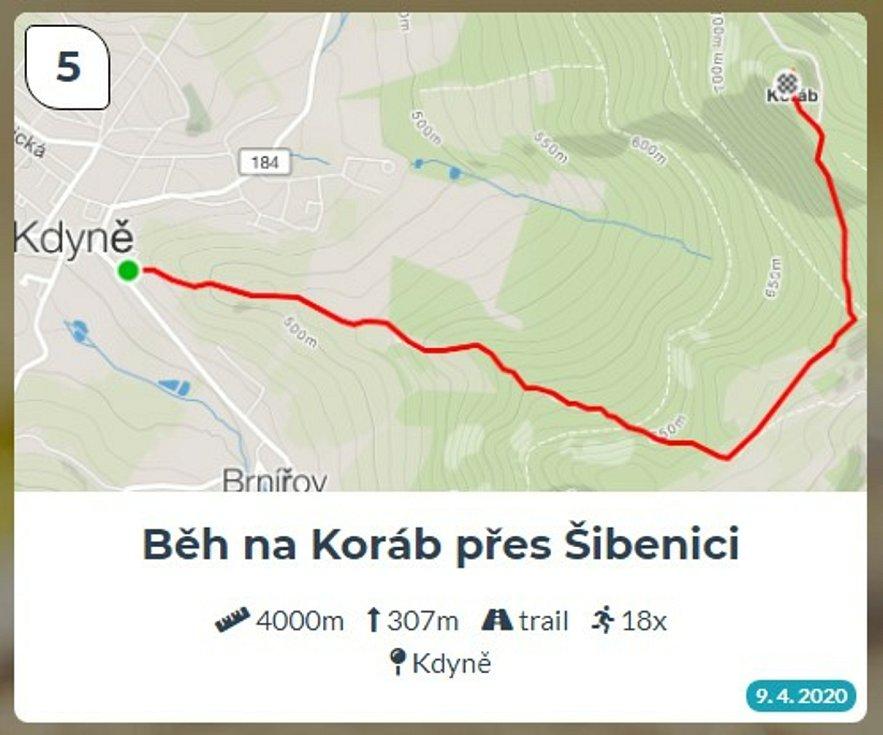 Běžci Chodska sobě: Trasa 5 - Běh na Koráb přes Šibenici.