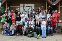 Účastníci táborové školy v Újezdě.
