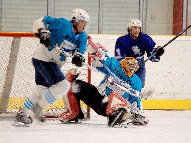 Z utkání hokejistů Sokola Kanice s HC Tempo Staňkov.