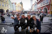 Bohemia JazzFest v Domažlicích, rok 2017. Na fotografii Mathias Heise Quadrillon z Dánska.
