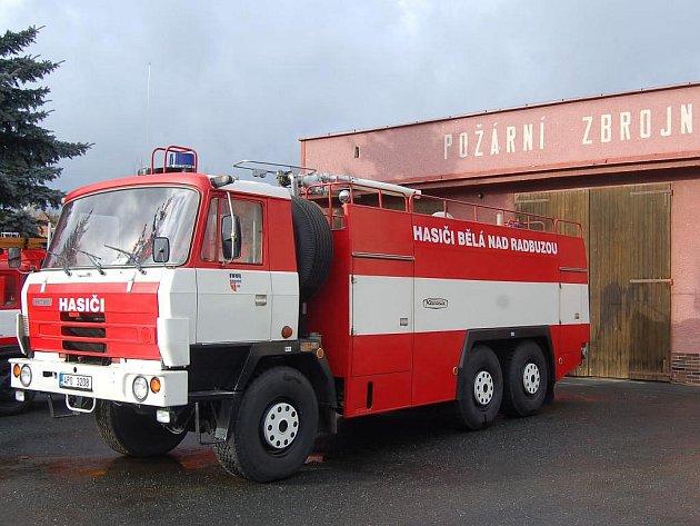Nový přírůstek v technickém vybavení SDH Bělá nad Radbuzou - Tatra 815.