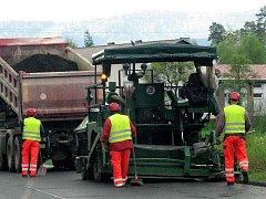 Ilustrační foto. Opravy silnic.