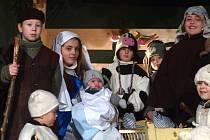 Z Vánočního příběhu Tři mudrci a jejich cesta do Betléma.