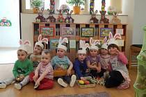Příprava na Velikonoce v mateřském centru.