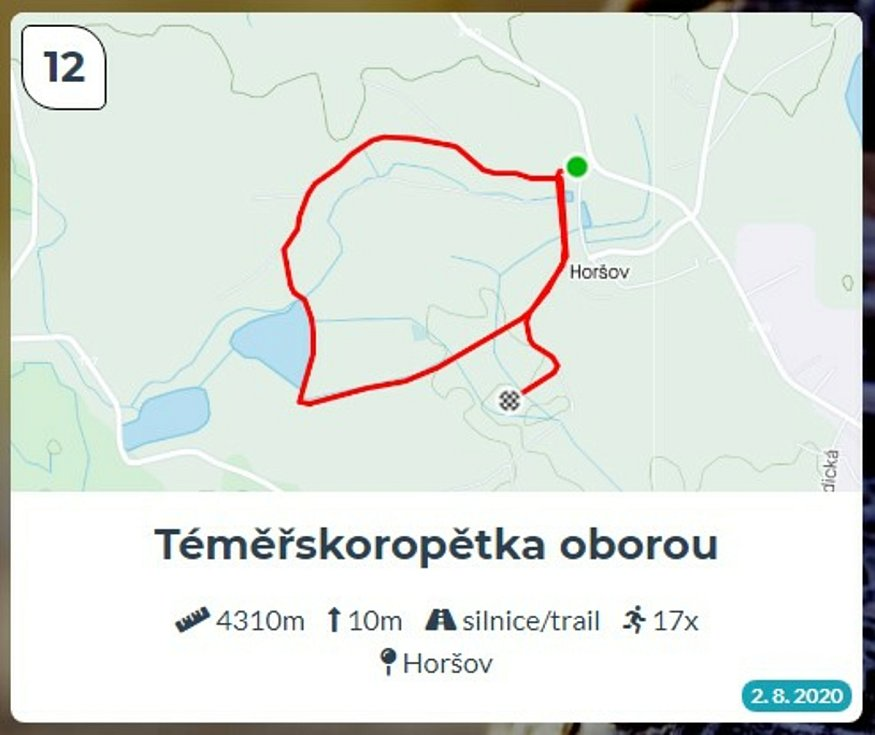 Běžci Chodska sobě: Trasa 12 - Téměřskoropětka oborou.