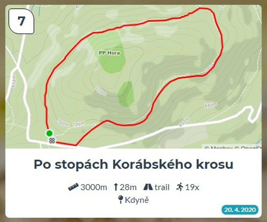 Běžci Chodska sobě: Trasa 7 - Po stopách Korábského krosu.