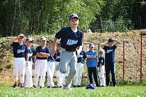 Z letního soustředění malých baseballistů Wolfs Domažlice.