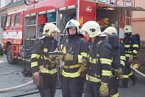 Cvičení hasičů a složek IZS v domažlické mlékárně.