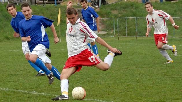 Z utkání FK Holýšov s SSC Bolevec 2:1.