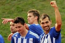 Dosavadním rekordmanem Jiskry Domažlice v hráčské tržní hodnotě byl podle serveru transfermarkt Martin Knakal (vpravo).
