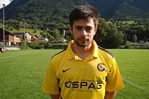 Fotbalista Michal Kočiš v dresu švýcarského FC Brig-Glis.