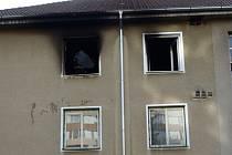 Pořár ve třetím patře bytového domu ve Kdyni.