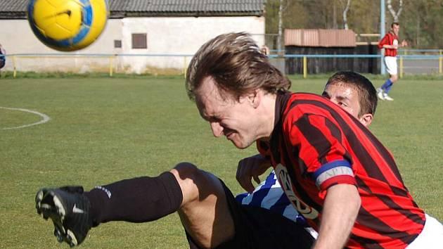 Staňkovský fotbalový kapitán Petr Štverka