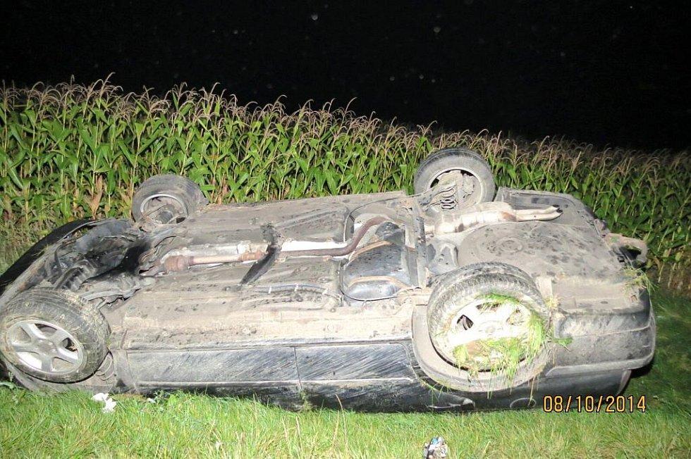 Noční nehoda u Hájku