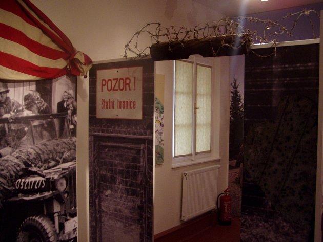 Jedna z instalací  Muzea příhraničí ve Kdyni