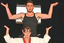 Pavel Wolf se svojí taneční partnerkou Ivou Minaříkovou.