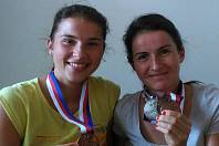 Barbora Beroušková (vlevo) se sestrou Kateřinou Razýmovou.