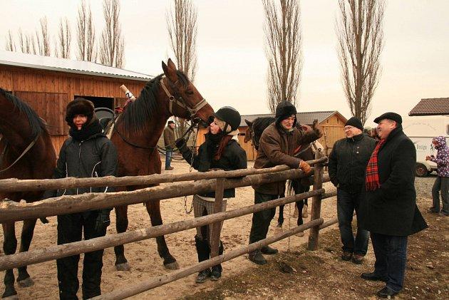 Štafetová koňská jízda v Drahotíně a Waldmünchenu.