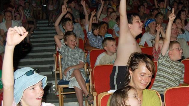 Děti se skvěle bavily
