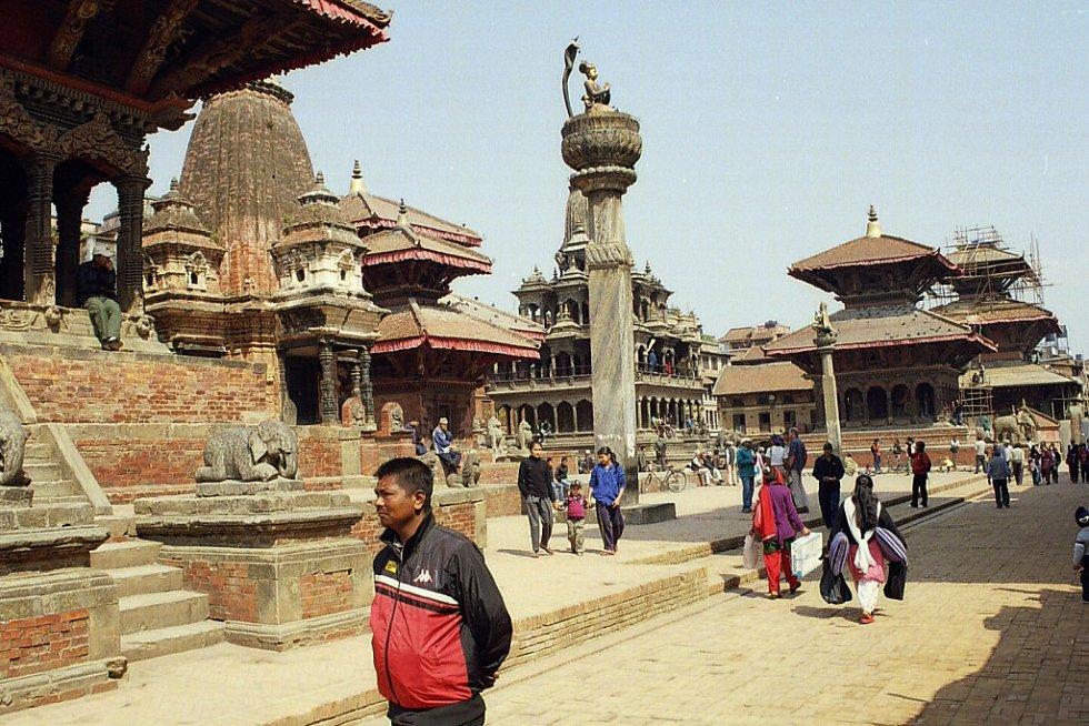 Pátán -jedno z bývalých královských měst v údolí Káthmandů-toto centrum již neexistuje po zemětřesení 2015