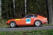 NEJELEGANTNĚJŠÍ AUTO. Oranžové japonské kupé Datsun 240 Z pocházelo z roku 1972. Foto: Jan Pek