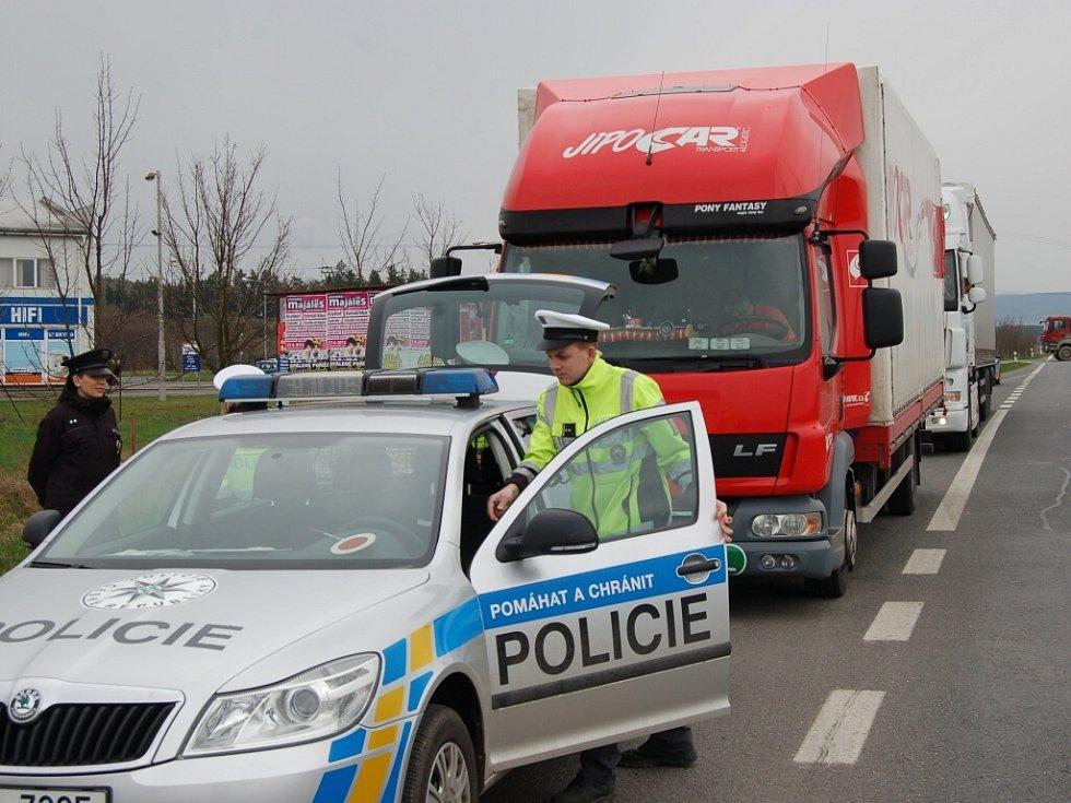 Bezpečnostní akce dopravních policistů na Domažlicku.