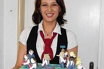 DÍLSKÉ HASIČKY. Alena Škopková vytvořila také tento neobvyklý dort.