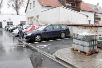 Nové parkoviště v Horšovském Týně.