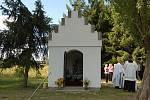 Svěcení nové kapličky v Bělé nad Radbuzou