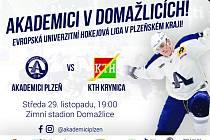 Pozvánka na hokejovou bitvu univerzit.