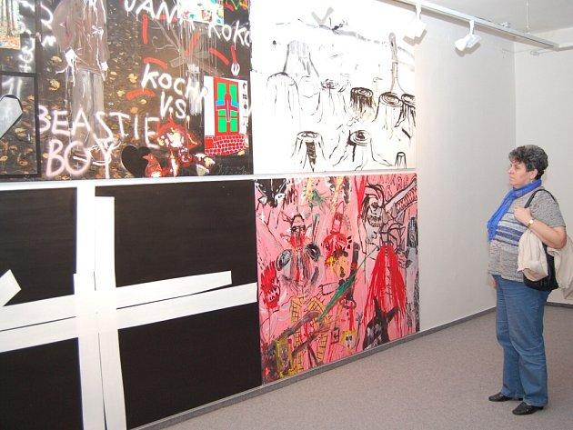 Vernisáž výstavy děl Václava Girsy v domažlické Galerii bratří Špillarů.