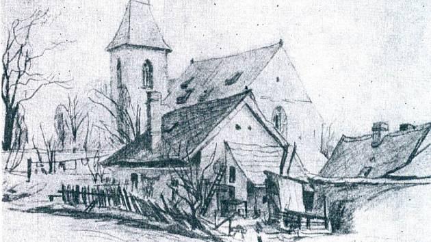 Domek v Husově ulici v Domažlicích.