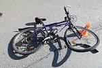 Nehoda cyklisty, ilustrační foto