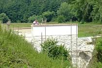 Oprava mostu v Puclicích.