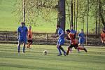 Sokol Zahořany (v modrém) - Sokol Blížejov (v oranžovém) 3:0 (1:0).