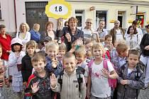 První školní den dětí z I.B v ZŠ Msgre B. Staška v Domažlicích.