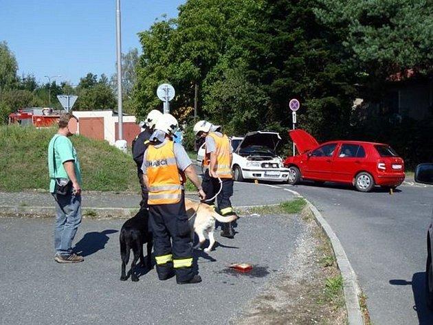 Čtvrteční dopravní nehoda v Domažlicích.