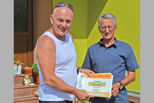 Pan Milan zDomažlic vyhrál šek na 5000Kč
