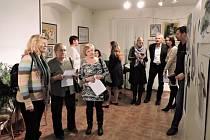 Vernisáž nové výstavy v kdyňském muzeu.