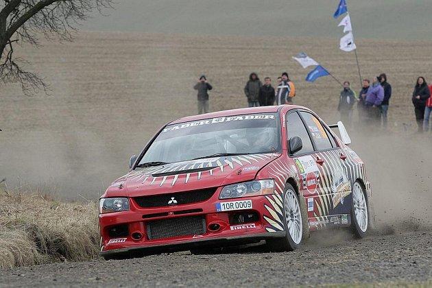 Domažlický Marcel Tuček na Valašské rallye.