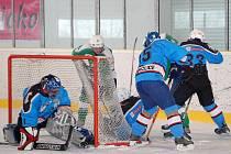 Z utkání DNHL mezi HC Trhanov a Rakon B.