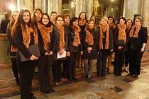 Domažlický sbor Canzonetta v Katedrále svatého Víta v Praze.