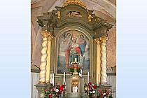 Z interiéru památného brůdeckého kostela sv. Václava.