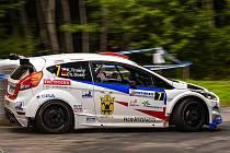 Meclovský jezdec Karel Trněný se svým německým spolujezdcem Christianem Doerrem cíl posledního letošního rallysprintu 1. Futures Contproduct Rally Moravia 2020 nespatřili.