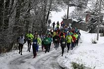 Závěrečným podnikem seriálu Běžec Chodska byla Capartická osma. Běžci se museli vypořádat se sněhem na trati.