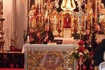 Vánoční koncert a betlém v Neukirchenu.