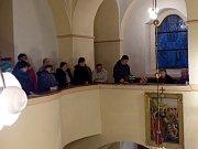 Z koncertu Canzonetty v mrákovském kostele sv. Vavřince.