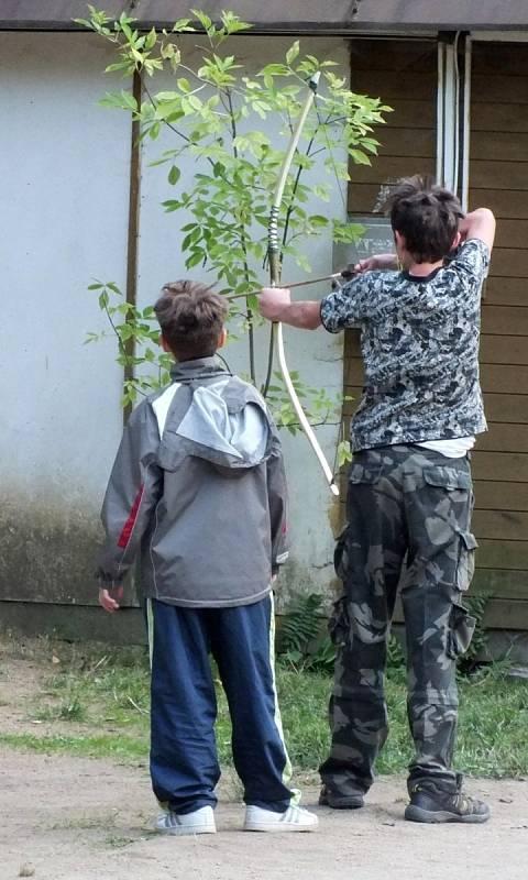Z tábora, který připravili újezdští hasiči pro děti na Hatlavce.
