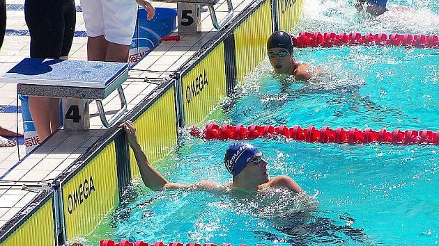 Martin verner po doplavbě 100 m kraul.