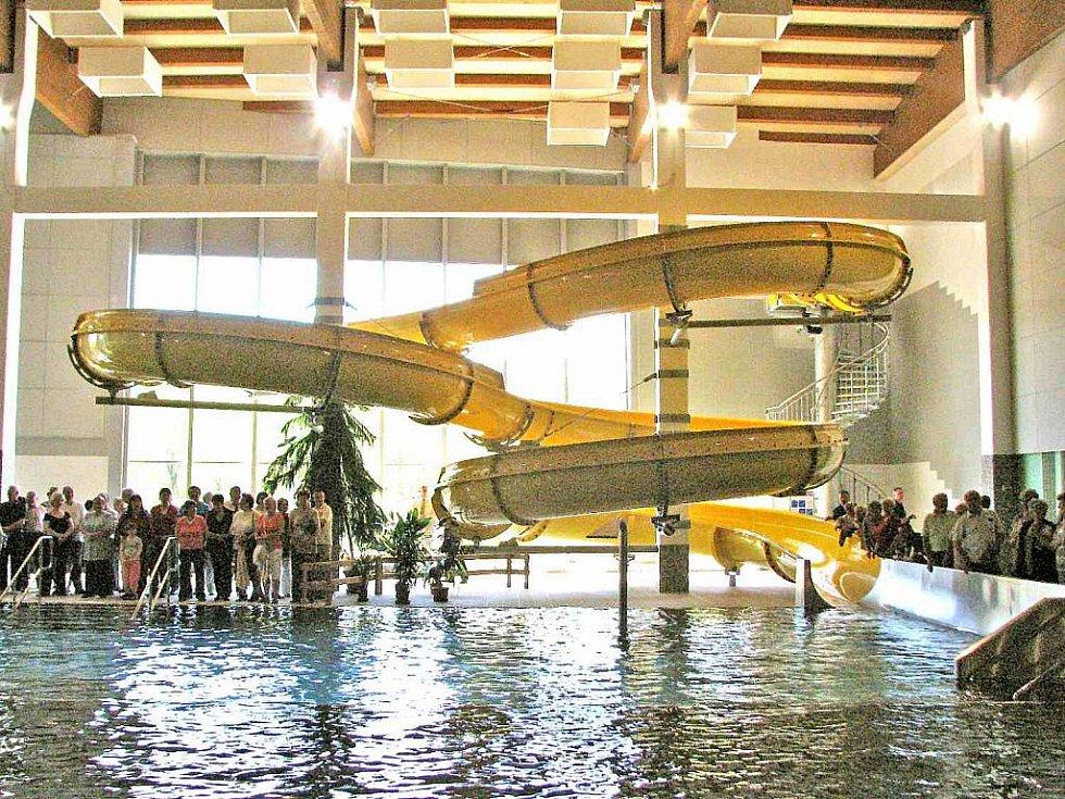 Z centra vodní zábavy ve Kdyni.